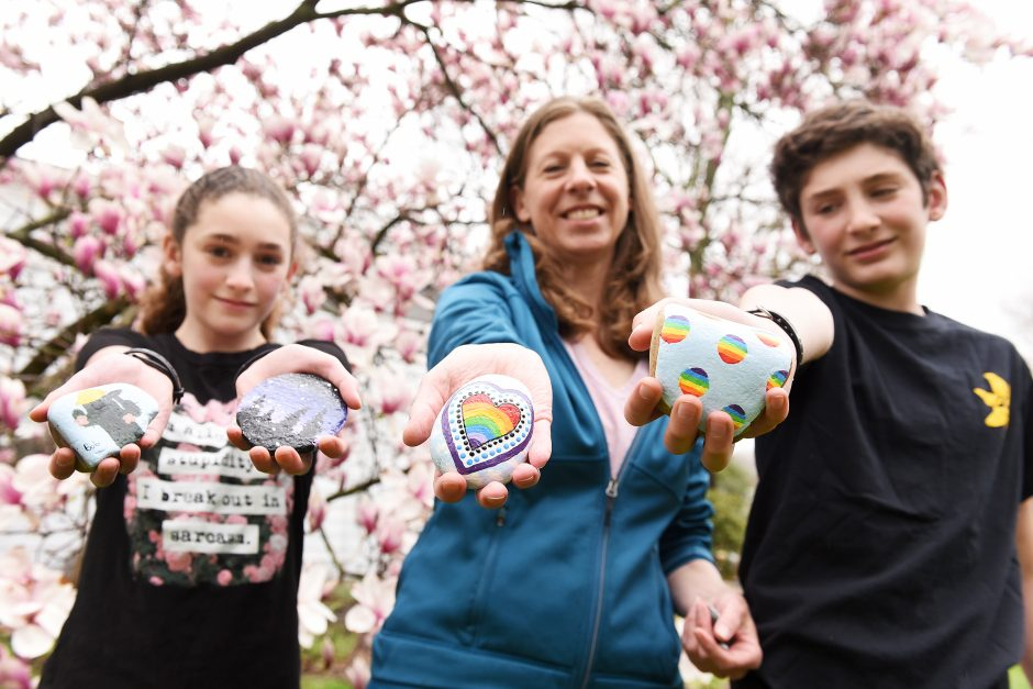 Niskayuna family Susan Guilmette and her children Daniel, 13, and Anna, 12.