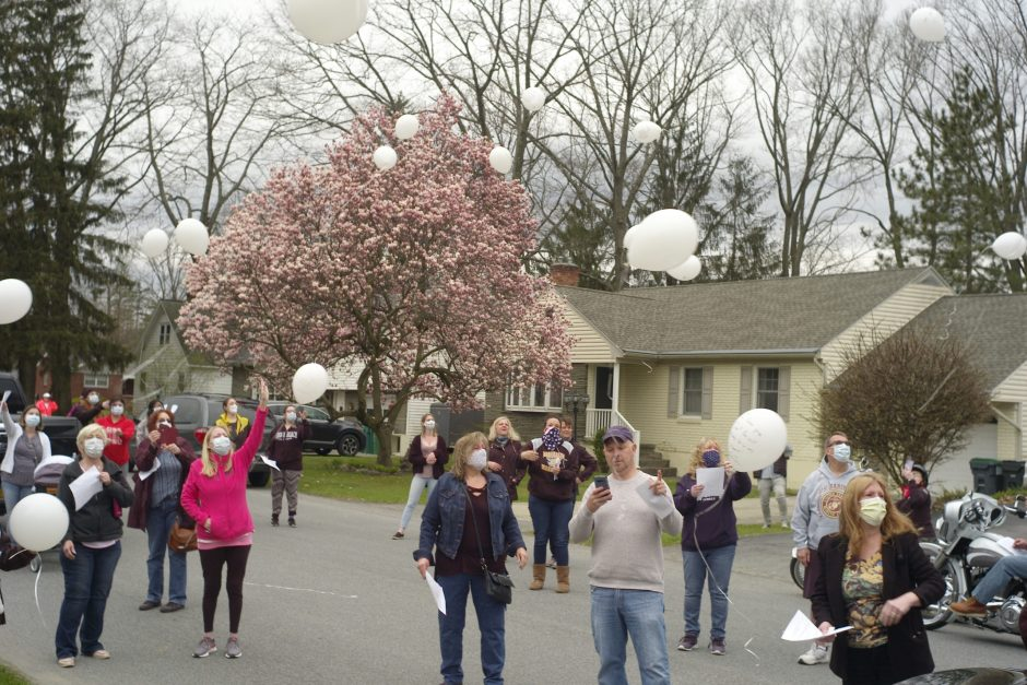 One year memorial for Jen Piscitella, was held on Wednesday evening on Merritt Dr. in Rotterdam.