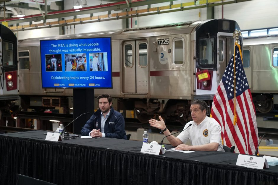 Gov. Andrew Cuomo observes disinfectant cleaning on subway cars and delivers daily briefing on the ongoing COVID-19 Pandemic.