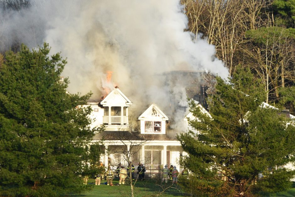 Structure fire at 18 Bloomfield Road in Greenfield Center on Saturday, May 2, 2020.