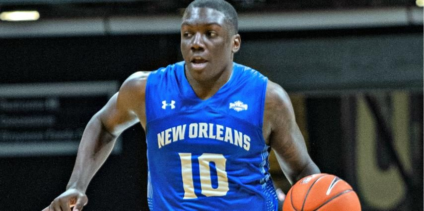 Gerrale Gates is shown playing for New Orleans.