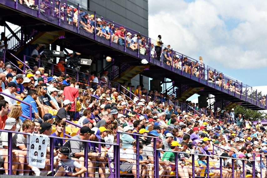 Fans pack Tom & Mary Casey Stadium in Albany for Premier Lacrosse League action last August.