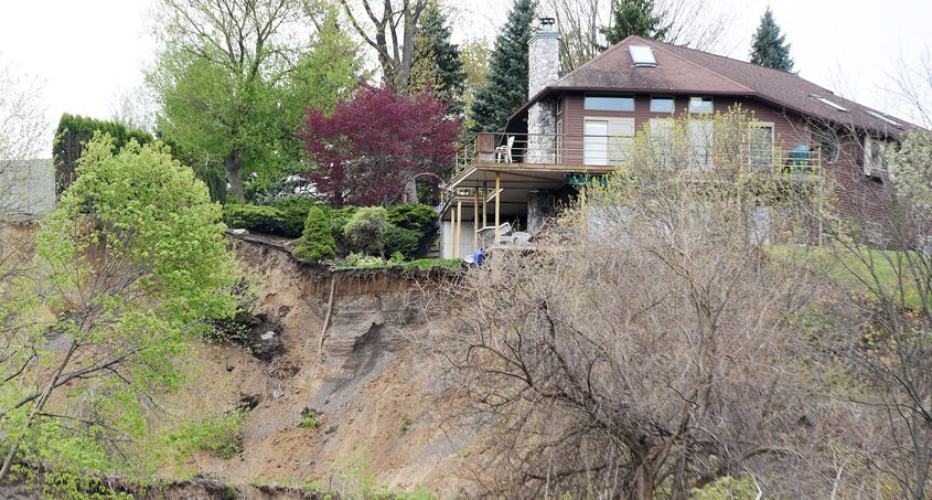 Homes along Middletown Road and nearby Wednesday remain in danger