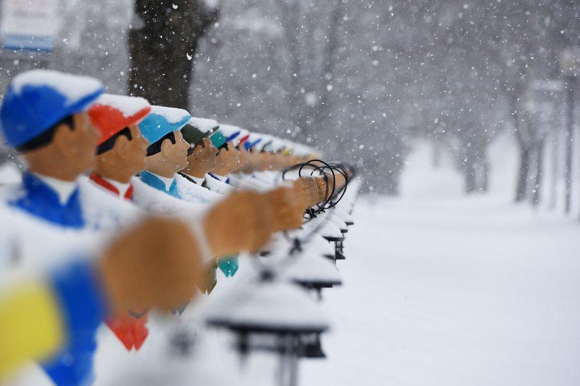 Snow in Saratoga Springs in January 2019