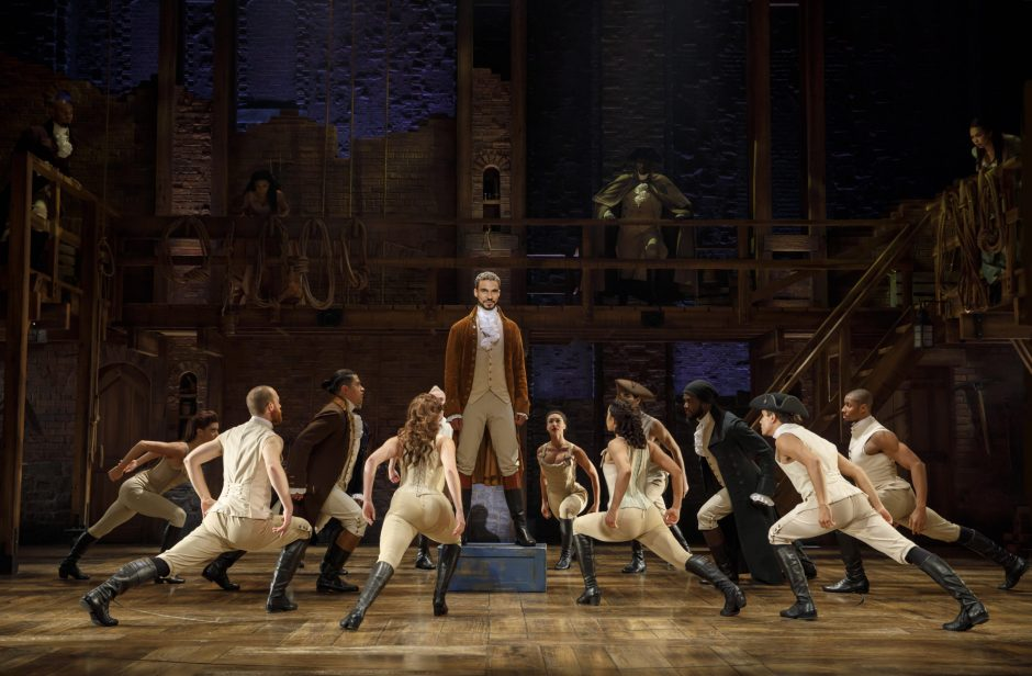 """The national touring production of """"Hamilton."""""""