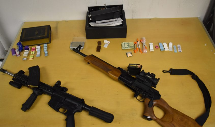 Items seized in Thursday's raid