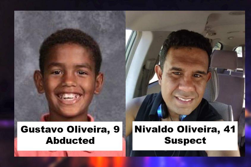 Gustavo Oliveira, 9, and Nivaldo P. Oliveira, 41