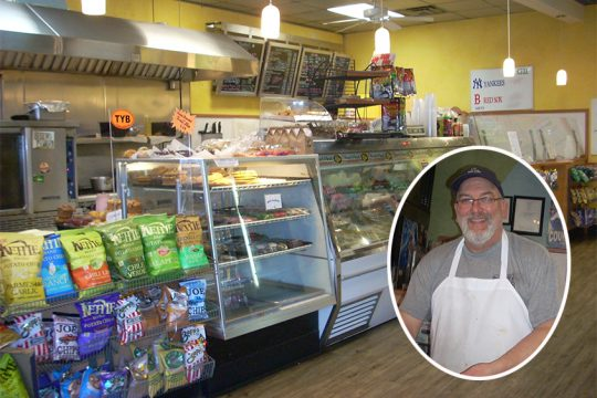 Russell's Deli in Ballston Spa and proprietor Russell Shapiro.