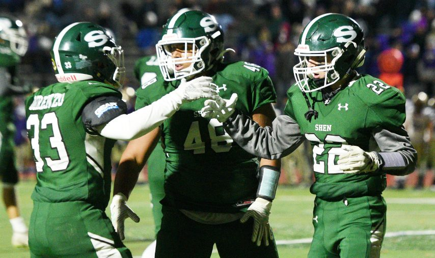 Shenendehowa won Section II and regional football championships in the 2019 fall season.