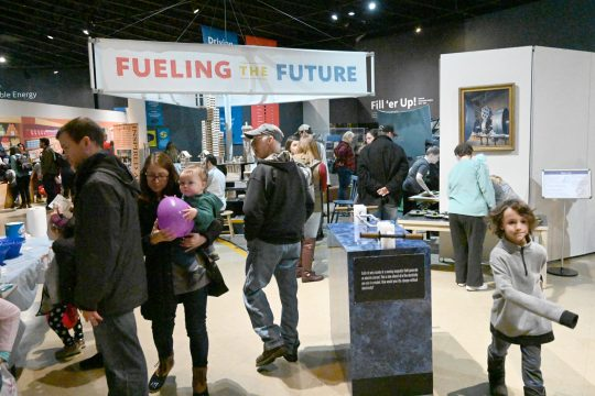 "The first annual ""Noon Years Eve"" at miSci was a family-oriented celebration with activities on Dec. 31."
