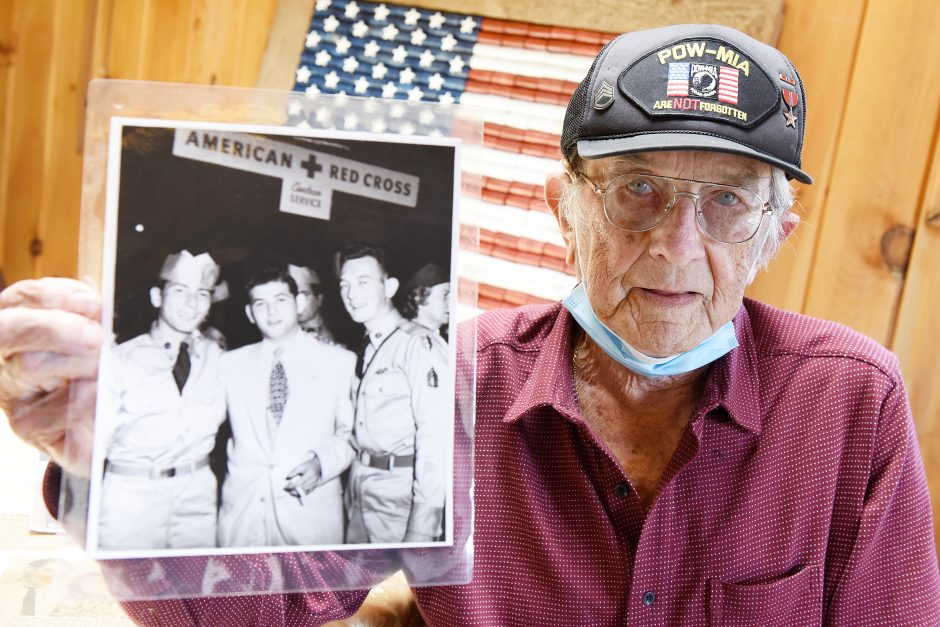 Korean War Veteran and POW Harry Brown inside his home in Rotterdam on Tuesday, May 12, 2020.