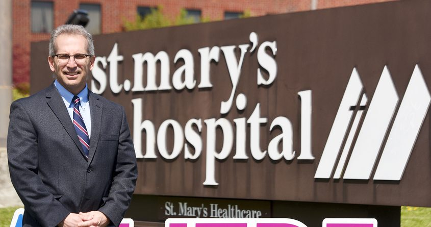 Incoming CEO of St. Mary's Hospital Scott Bruce, during the COVID-19 pandemic, in Amsterdam Wednesday