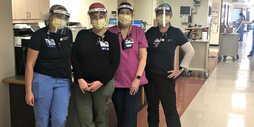 GE Research teamed up with NYSID and Center for Disability Services in Albany to supply 400 face shields for hospital workers.