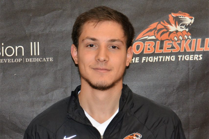 Junior sprinter Alex Hitchcock won SUNY Cobleskill's Hugh D. Grace Award for Sportsmanship.
