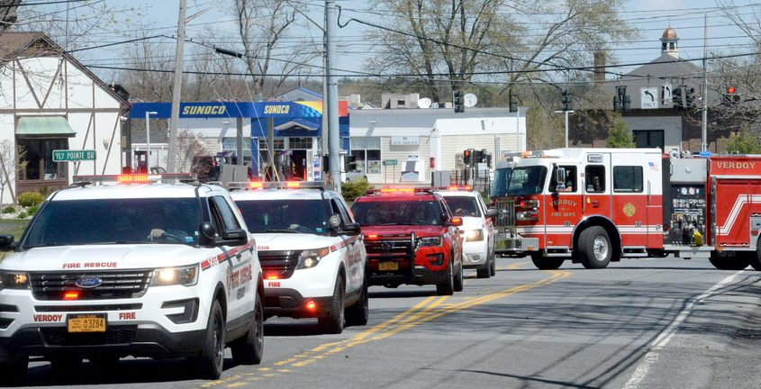 A birthday parade in Colonie earlier this month