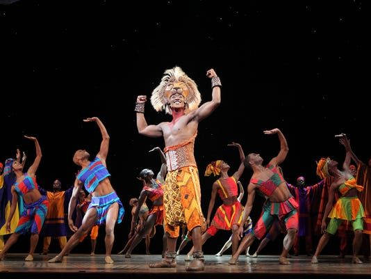 "An image from ""The Lion King"" touring musical, which ranked high among readers."