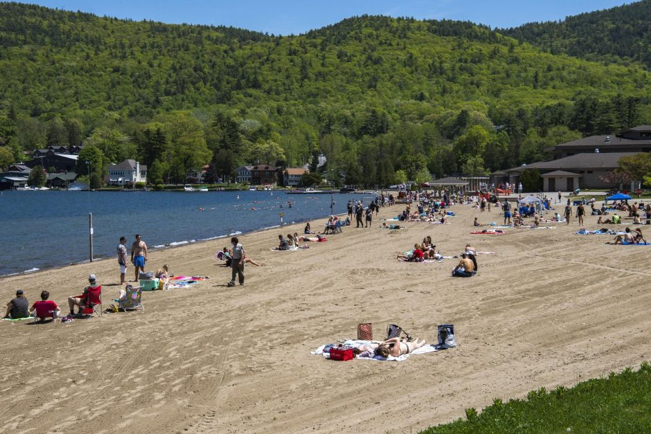 Million Dollar Beach in Lake George opened for the Memorial Day Weekend Saturday, May 23, 2020.