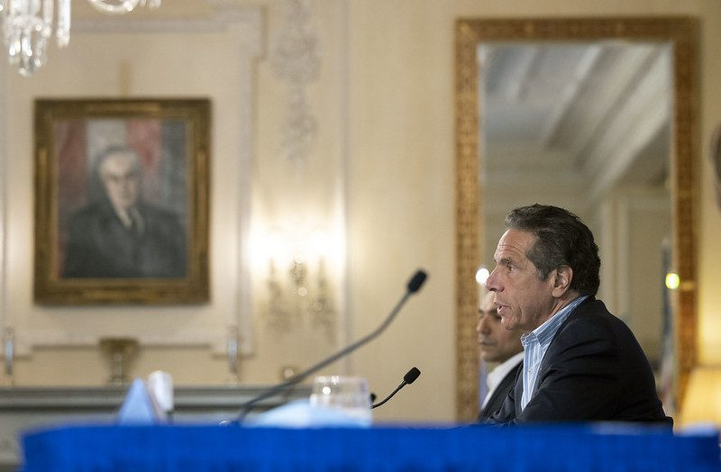 Governor Andrew Cuomo delivers his daily press briefing on COVID-19 Saturday, May 23.