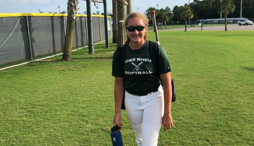 Justine Henderson of Clifton Park has been able to work on her softball game in Alabama.