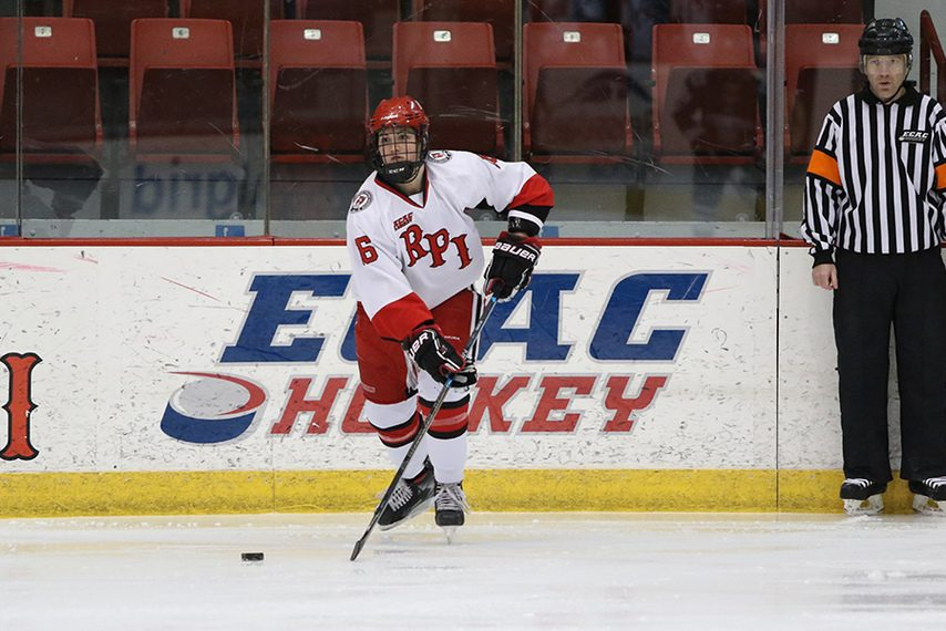 RPI's Kirsten Iwanski didn't miss a game as a junior and senior after having suffered a brain tumor prior to her sophomore year.