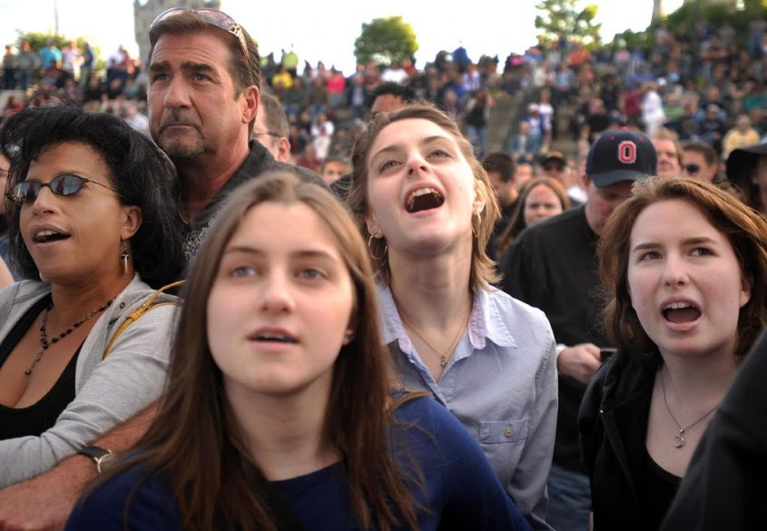 Fans enjoy the music of Vertical Horizon at a past Alive at Five concert in Albany.