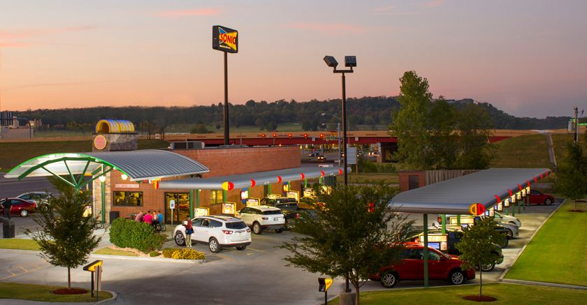A typical Sonic Drive-In is shown in an image provided by the company.
