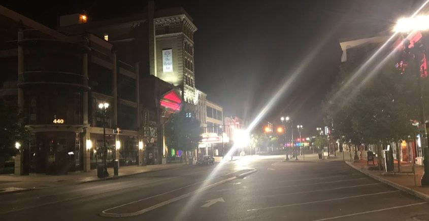 Downtown Schenectady shortly after 2 a.m.