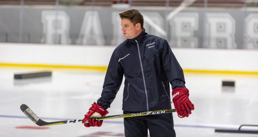 Former Albany Academy hockey coach Brett Riley is the first coach of the new Long Island University hockey program.