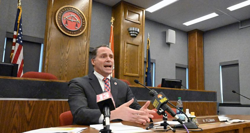 Schenectady County Manager Rory Fluman in his COVID-19 Facebook-live update recently