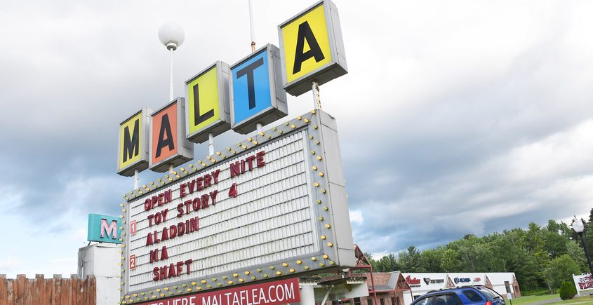 The Malta Drive In theater, one of several venues now allowed to host graduation ceremonies