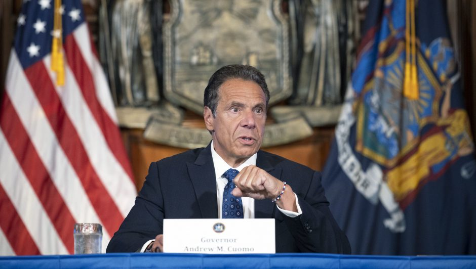 Governor Andrew M. Cuomo provides a coronavirus update during a press conference on June 4, 2020.