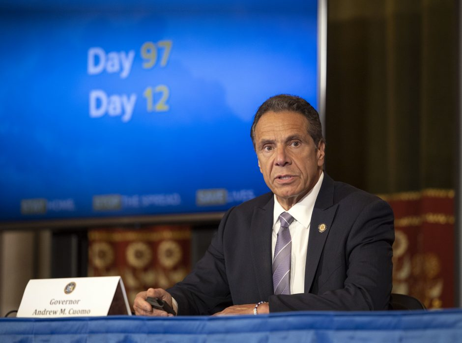 Governor Andrew M. Cuomo provides a coronavirus update during a press conference on June 5, 2020.