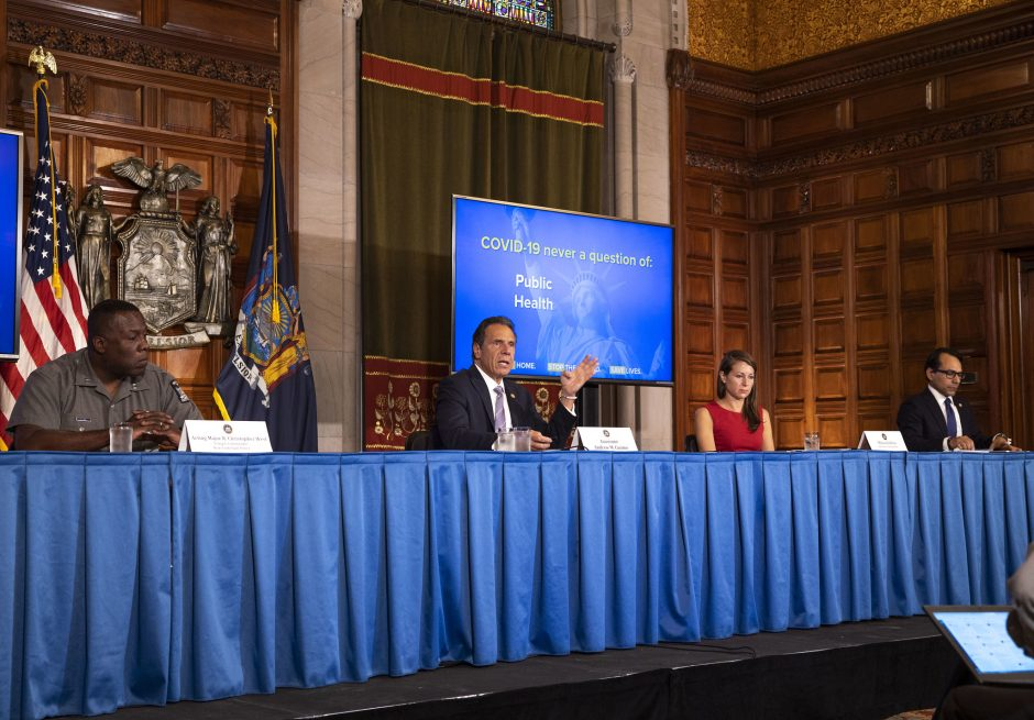 Governor Andrew Cuomo delivers daily Coronavirus update on June 5, 2020.