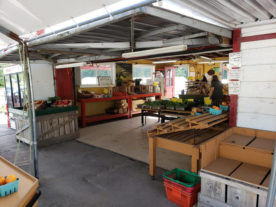 The Buhrmaster Farms stand on Route 50 in Scotia is the pickup spot for the Farm Fresh Meal Boxes.