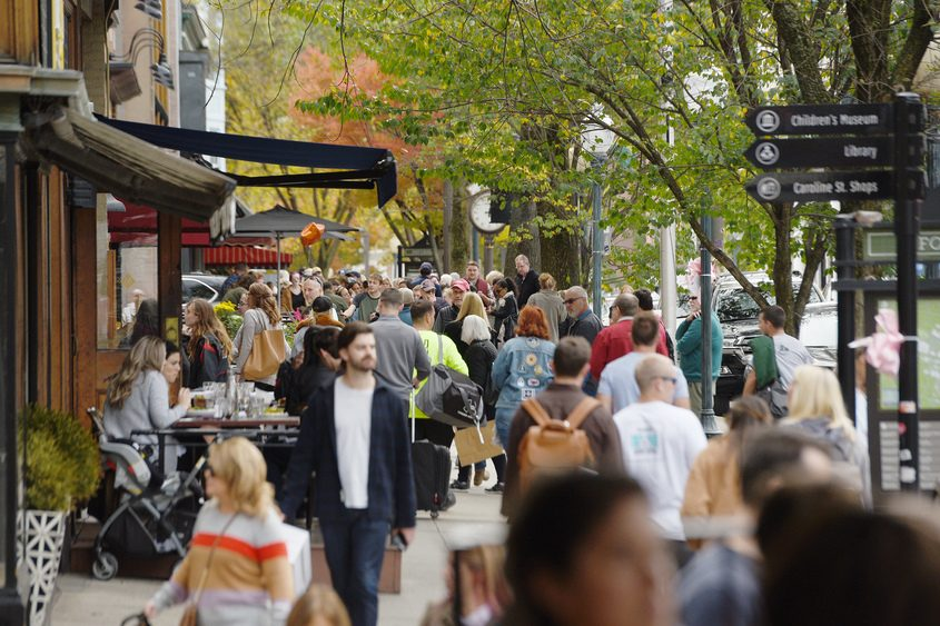 Broadway sidewalks filled with visitors in October for the 6th annual Saratoga International Flavorfest