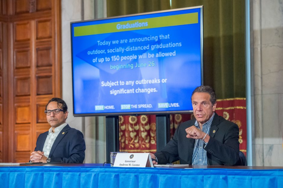 Governor Andrew M. Cuomo provides a coronavirus update during a press conference on June 12, 2020.