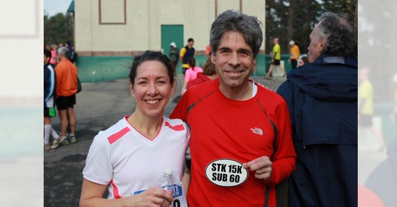 Rob Liebers stands with his sister Emily Titsworth after a Stockade-athon.