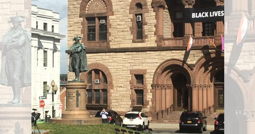 The Schuyler statue last week