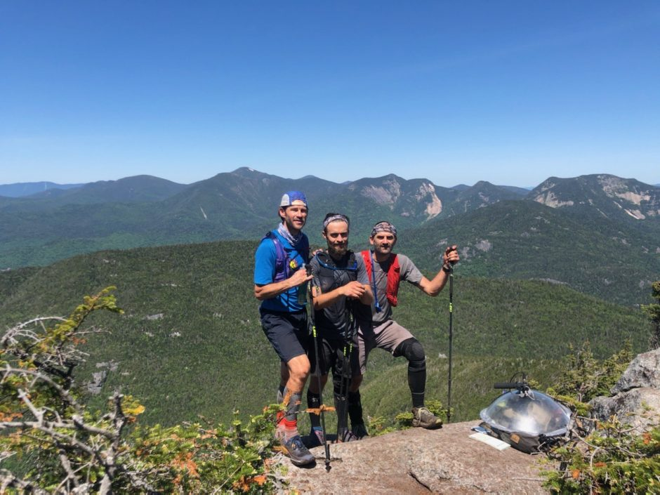 From left, Dan Fronhofer, Mike Jawarski and Paul Fronhofer in the High Peaks.