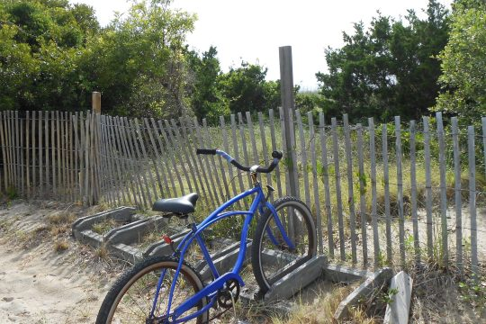 Bicycles are the preferred means of transportation on Bald Head Island in North Carolina.