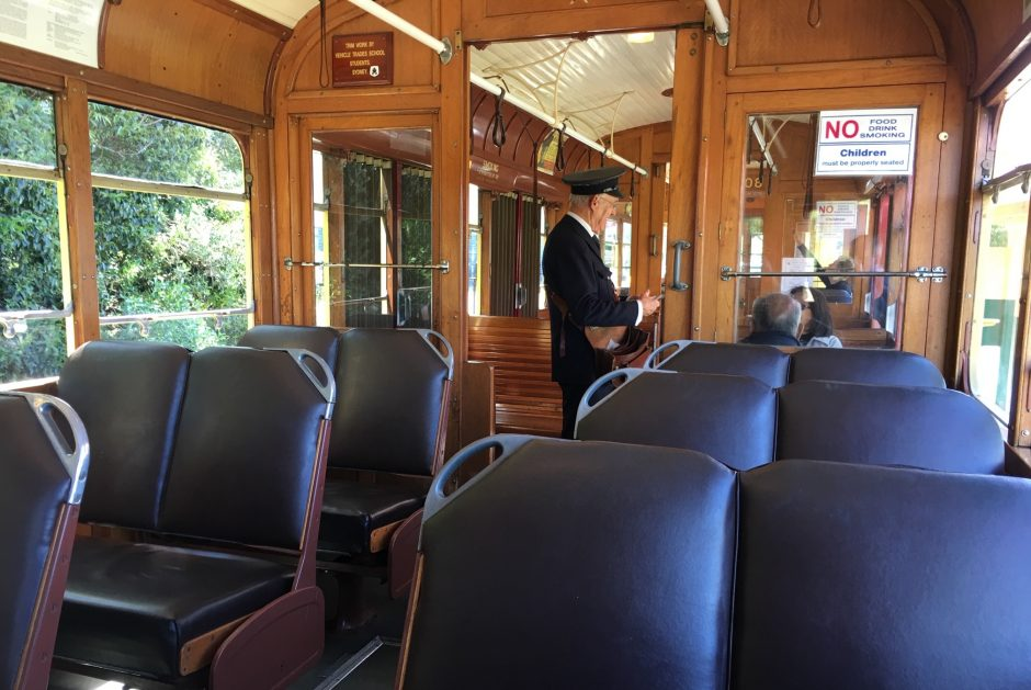 A vintage tram in Auckland Park.