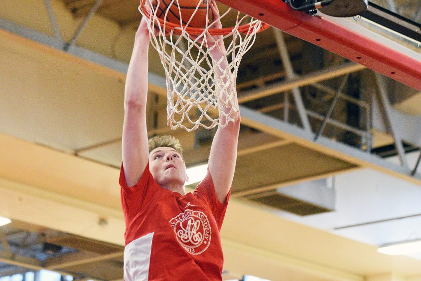 Albany Academy's Riley Mulvey is attracting attention from NCAA Division I basketball programs.