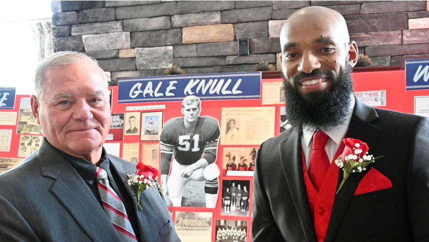 Gale Knull, left, and Willie Deame were among the Schenectady City School District Athletic Hall of Fame inductees in 2019.
