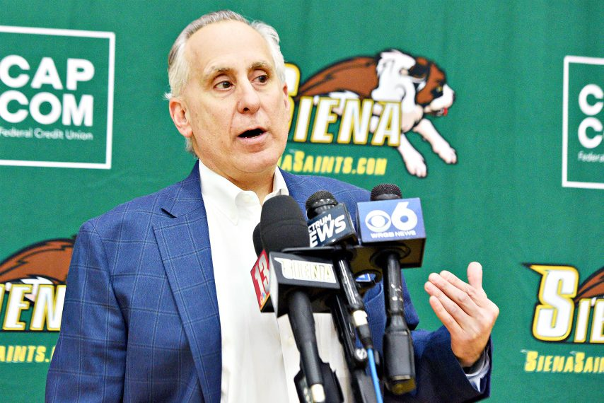 Siena athletic director John D'Argenio is shown earlier this year.