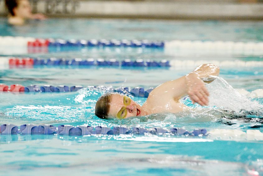 A swimmer in action earlier this year at the Southern Saratoga YMCA, which has been closed since mid-March.