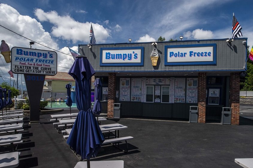 Bumpy's Polar Freeze is closed and quiet on Wednesday afternoon.