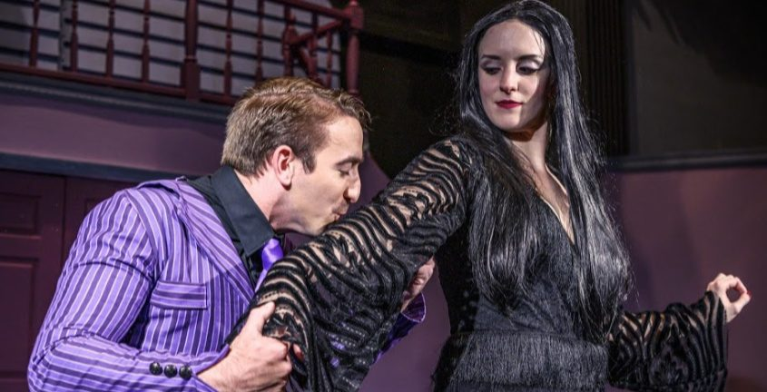 "Gabriel Hage as Gomez and Elizabeth Sterling in the SLOC production of ""The Addams Family."""