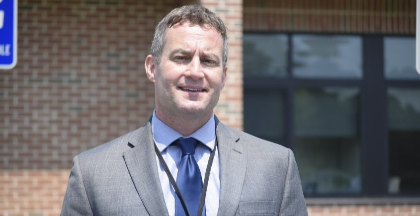 Richard Ruberti, pictured last week, comes to the district from Wheelerville Union Free School.