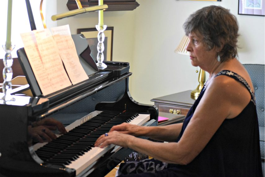 "Amsterdam piano teacher hosted ""Music for a Summer Afternoon"" for her students on Thursday at her home."