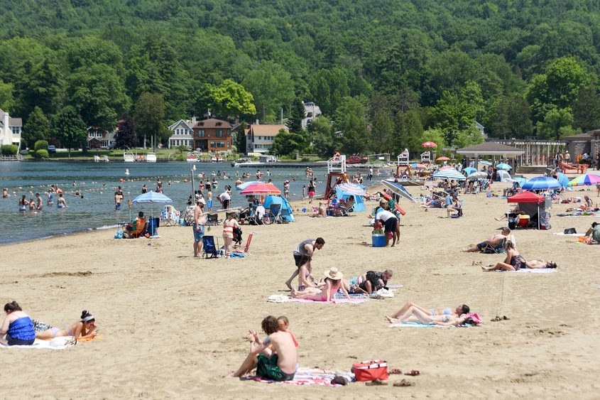 Million Dollar Beach in Lake George Thursday